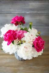 Peonies Bouquet in vase