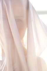 Veiled young woman