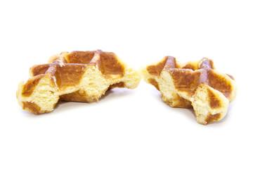 Waffle bread half cut glazed texture
