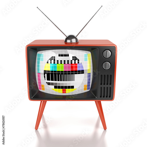 Vintage tv isolated - 78626187