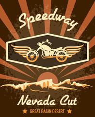 Retro Speedway Nevada Cut Graphic Design