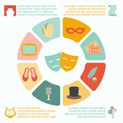 Theatre Infographics Set