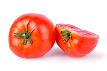 ripe juicy tomatoes cut in half