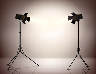 Standing Spotlights Background