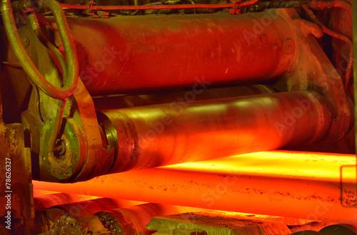 hot steel on conveyor - 78626327