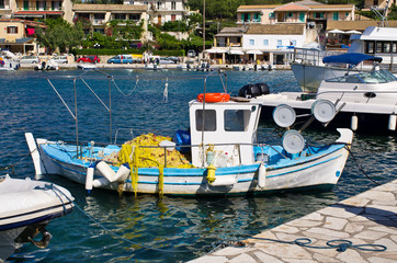 Port in Kassiopi village - Corfu, Greece