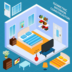 Isometric Bedroom Interior
