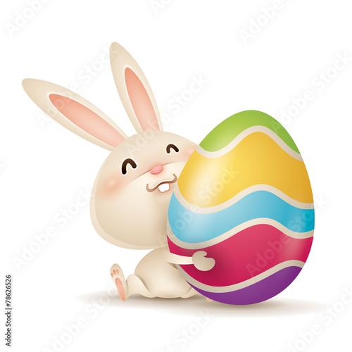 Zdjęcia na płótnie, fototapety, obrazy : Easter bunny and egg