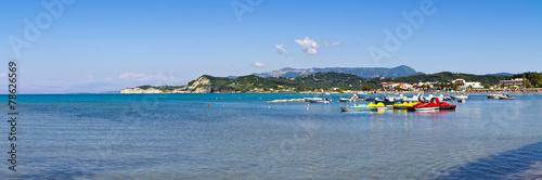 Seashore in Sidari  on Corfu island, Greece - 78626569