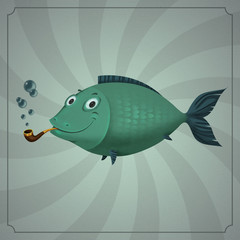 happy smoking fish