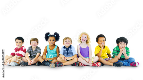 Children Kids Happines Multiethnic Group Cheerful Concept - 78626717