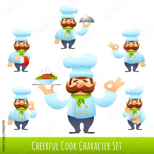 Fotobehang Indiërs Cook Cartoon Characters