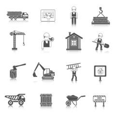 Construction Icons Black