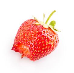 bitten strawberry