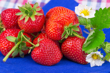 strawberry on a napkin