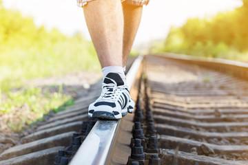 railroad man legs