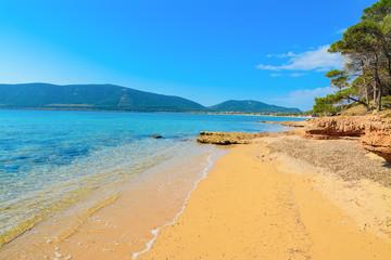 Mugoni beach under a clear sky