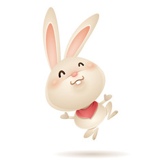 Easter bunny feeling excited