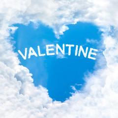 valentine word cloud heart shape