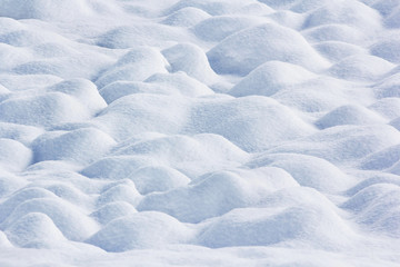 snow ground wave bump