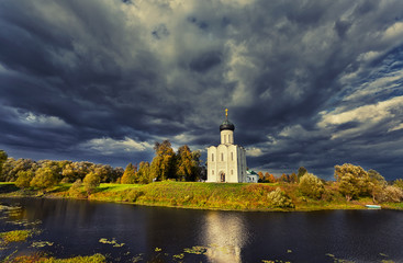 Church of  Intercession of  Holy Virgin onNerl River, Russia