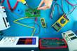 Leinwanddruck Bild - electronic measuring instruments