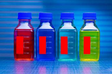 set of of food colorants, food additives