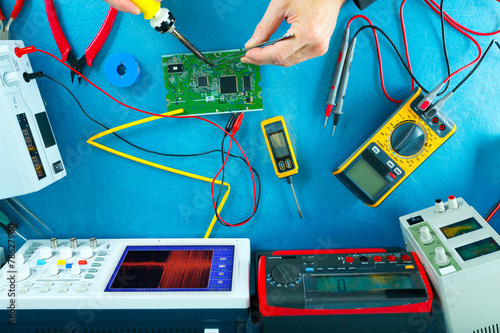 Leinwanddruck Bild electronic measuring instruments