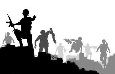 Combat troops