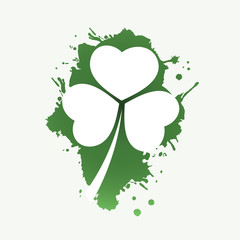 St. Patrick's Day Card Background Template Design