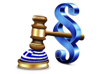 Griechenland, Gericht, Urteil, Gerichtshammer, EU
