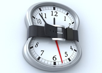 time concept  with belt