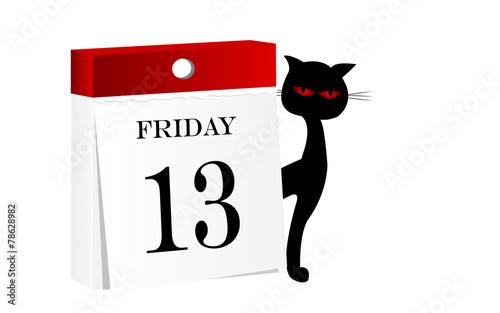 Zdjęcia na płótnie, fototapety, obrazy : Friday 13th calendar