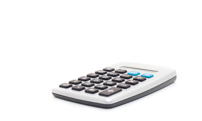 Standard calculator. All on white background.