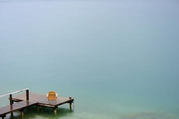 Armchair on a pontoon