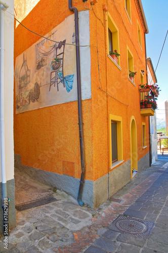 Leinwandbild Motiv Alleyway. Satriano di Lucania. Italy.
