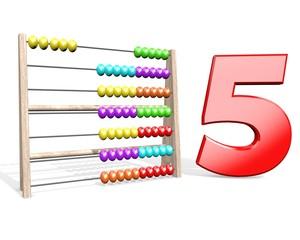 Telraam tellen tot vijf