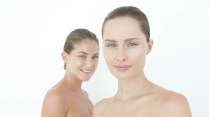 Two women's faces