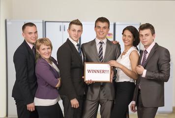 Winning corporate business team