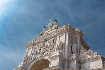 Rua Augusta Arch. Lisbon. Portugalugal
