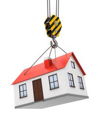 house and crane hook