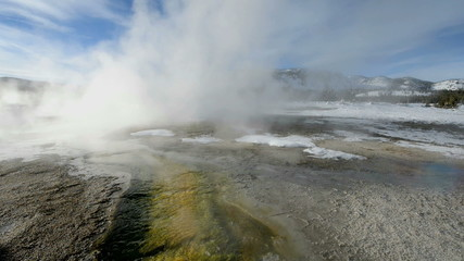 Geyser in winter