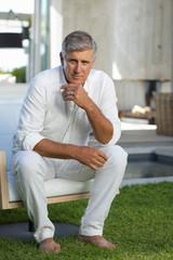 Senior man sitting
