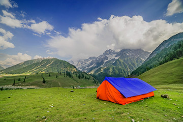 Camping in Valley