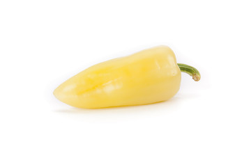 yellow chili pepper from hungary isolated on white background