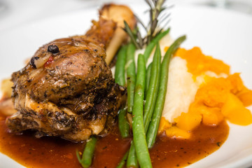 Lamb Shank and Green Beans