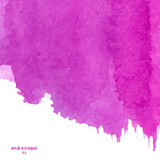 Fototapety Pink abstract watercolor square