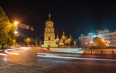 Saint Michael Monastery in Kiev at night