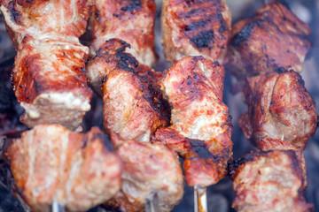 Hot Pork Kebabs with Smoke