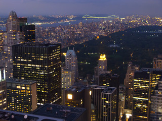 New York at dusk